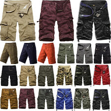 Men's Cargo Shorts Military Army Combat Half Pants Summer Work Casual Trousers