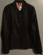 L-R-G Mens Windbreaker Jacket Black Size Large Coaches Lifted Research Group