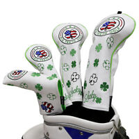Golf Headcover Driver Head Covers Fairway Wood UT Putter Cover Lucky Clover