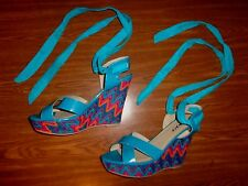 Bumper Multi-Color WEDGE SANDAL/SHOES WOMEN'S SIZE 9 (5 INCH HEEL)  NAOME22