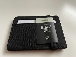 New Herschel Supply Street Style Card Holder Wallet RFID Black Out Clear Rubber