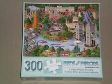 BITS AND PIECES 300 Large Piece Jigsaw Puzzle - LONDON CITY VIEW - COMPLETE