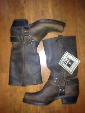 New Frye Harness 12R 77300 Brown Motorcycle Leather Boots Size 7.5 M Womens