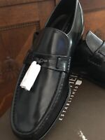 New Florsheim Como with Tassel Loafer Shoes Black Leather 17090-01 Size 8 1/2 3E