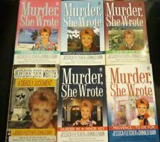 Lot of 6 Murder She Wrote Paperbacks - Jessica Fletcher & Donald Bain - Mystery