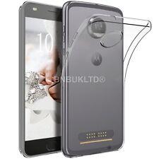 Claro caso de gel Delgado Y Vidrio Protector de pantalla para Motorola Moto Z2 Play