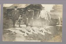 pk29706:Real Photo Postcard-Hunters and their Deer,Maple Lake Station,Ontario