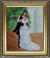 Framed Pierre Renoir Dance in the City Repro, Hand Painted Oil Painting, 20x24in