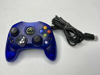 READ Original Xbox Controller S Wired Blue OEM Microsoft Not Workin Parts/Repair