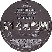 "Janet Jackson ""Miss You Much"" 1989 A&M Oz 7"" 45rpm"