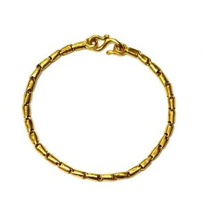 """22k yellow gold baby child chain link small bracelet 3.8g unique 5"""""""