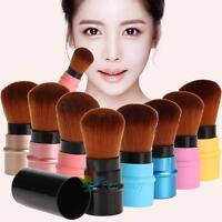 Retractable Kabuki Bronzer Makeup Cosmetic Foundation Powder Blush Brush Tool A