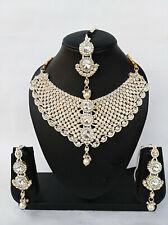 Indian Rose Gold Bollywood Style Fashion Jewelry Designer Bridal Necklace Set