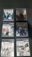 Assassins Creed PS3 Bundle - 1, 2, 3, Revelations, Brotherhood & Black Flag- CIB