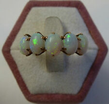 Art Nouveau Style Opalring Women's Ring Gold 585 Opal Ring Rose Gold um 1910