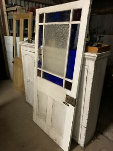 RECLAIMED - Victorian - ANTIQUE DOOR - Part Decorative Glass Vestibule / Porch