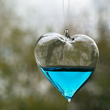 Blue Heart Christmas Tree Decoration + Free Personalised Engraving (optional)