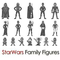STAR WARS FAMILY STICKER CUSTOM FIGURE CAR WINDOW LAPTOP NOTEBOOK VINYL DECAL