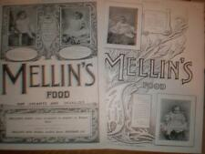 2 Mellin's baby Food Uk adverts 1897