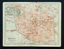 Antica Stampa Topografic= BOLOGNA - MODENA =EMILIA ROMAGNA.ITALIA.1907.Meyers