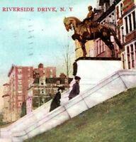 1908 Riverside Drive Franz Siegel Monument NYC Postcard AY