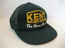 Kent Building Supplies Home Centre Hat Vintage Green Snapback Trucker Cap