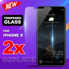 2x Premium Tempered Glass Screen Protector for Apple iPhone X