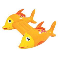 Inflatable Pool Kickboard - Adventurous Fish Orange Novelty Float