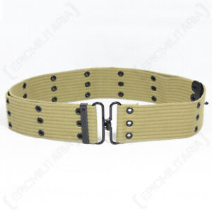 WW2 US Army Style Coyote Pistol Belt Khaki Tan Airsoft Vintage Hunting Repro NEW