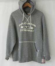Ralph Lauren Hoodie RL Fleece Gray Pull Over Kangaroo Pocket Size XL