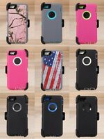 "For iPhone 6P & iPhone 6s Plus 5.5"" Defender Hard Shell Case w/Holster Belt Clip"