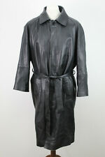 Genuine Leather Black Coat Size XL