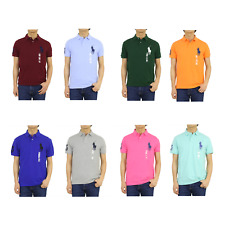 Polo Ralph Lauren Custom Slim Fit Solid Big Pony Polos -- 9 colors --