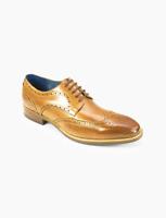 AZOR Hommes Semi - Carré Venise Bout D'Aile Lacet Chaussures Fauve UK 7 Pour 12