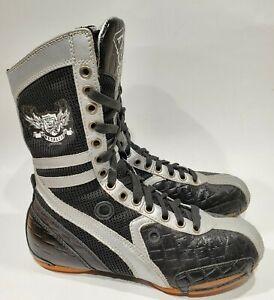 FRONTLINE B Free High Top Dance Hip Hop Sneakers Girls Size 5.5  Black & Gray