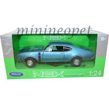 WELLY 24024 1968 OLDSMOBILE 442 1/24 DIECAST MODEL CAR BLUE