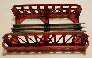 Lionel O Gauge Train Bridge Post War Very Nice Condition