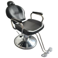 Salon Cutting Hairdressing Chair Gas Lift Barber Furniture Leather Head Rest New