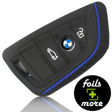 Auto Schlüssel Hülle Silikon BMW Anhänger Schutz Cover Etui Zubehör Schwarz Blau