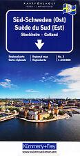 Schweden Regionalkarte 3 Süd-Schweden (Ost) 1:250.000 Kümmerly + Frey