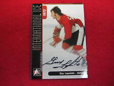 2006 ITG International Ice Guy LaPointe certified autograph Canadiens