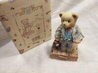 "Cherished Teddies ""mayor Wilson T Beary Membears Only Figure "" Boxed"