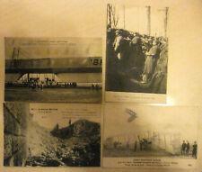lot de 4 CPA  Guerre 1914-1918 aviation et tranchées - cartes anciennes