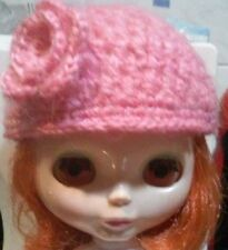 Blythe cute Pink knitted hat , dress ,  Outfit , doll not enclosed