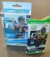 2020 Panini Donruss NFL Football Hanger Box & a fat pack (80 cards) Joe Burrow?