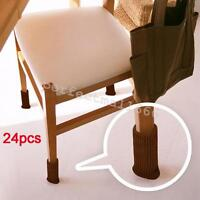 24pcs Chair Leg Cover Knitting Sock Floor Protector Furniture Table Feet Pads
