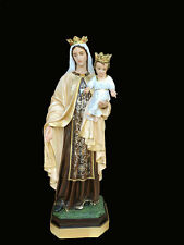 ESTATUA Madonna del Carmel cm. 183 - OUR LADY Monte 6,0 PIES Con Corone