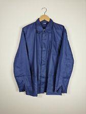 VINTAGE ASIAN VIETNAMESE Worker Chore Jacket Work Wear Shirt Blue   Medium M