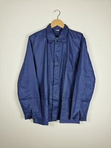 VINTAGE ASIAN VIETNAMESE Worker Chore Jacket Work Wear Shirt Blue | Medium M