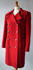 Ladies Windsmoor Red Wool & Cashmere Double Breasted Coat Size UK 10 / 12